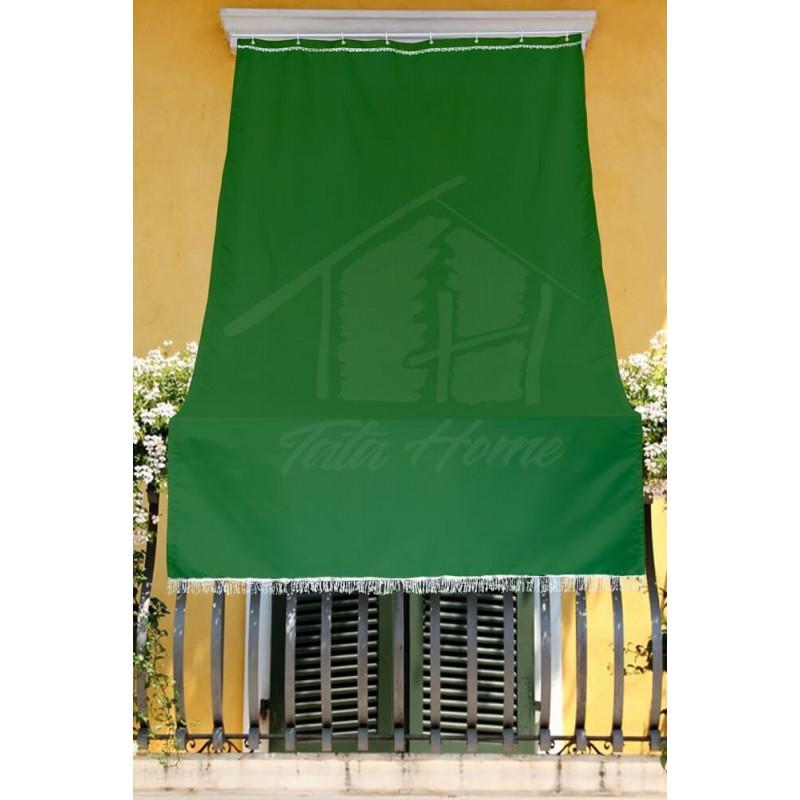 Tende Da Sole Per Balconi.Tenda Da Sole Con Kit Ganci E Anelli In Tessuto Resistente Da Esterno O Balcone Dis 5 Tinta Unita Colore Verde Tata Home