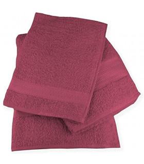 Tata Home Set 3 Asciugamani Wally da Bagno Telo Doccia Salvietta Viso e Ospite in Cotone da 360 Gr/Mq Made in Italy Colore Li