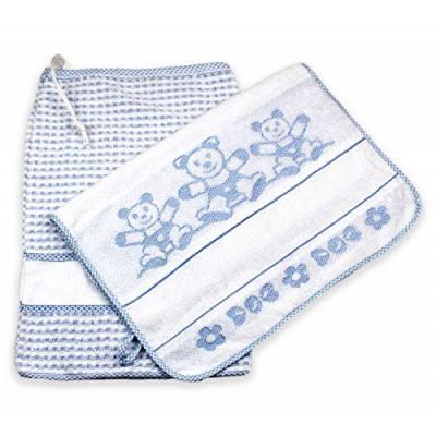 Set Asilo Scuola Materna 2 Pezzi con Tela Aida Da Ricamare 100% Cotone Made in Italy 4 Colori