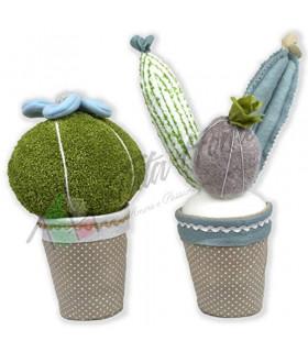 Tata Home Cactus Coppia Fermaporta Decorativi in Stoffa Altezza 35 cm Dis. 3