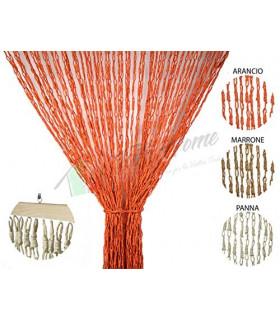 Tenda Antimosche con Catetenelle Intrecciate in Fibra Naturale per Porta Finestra Moschiera a Pannello Misura 140 x 230 cm Co