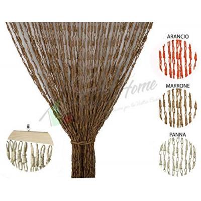 Tenda Antimosche con Catetenelle Intrecciate in Fibra Naturale per Porta Finestra 3 misure 3 colori Mod. SOFY