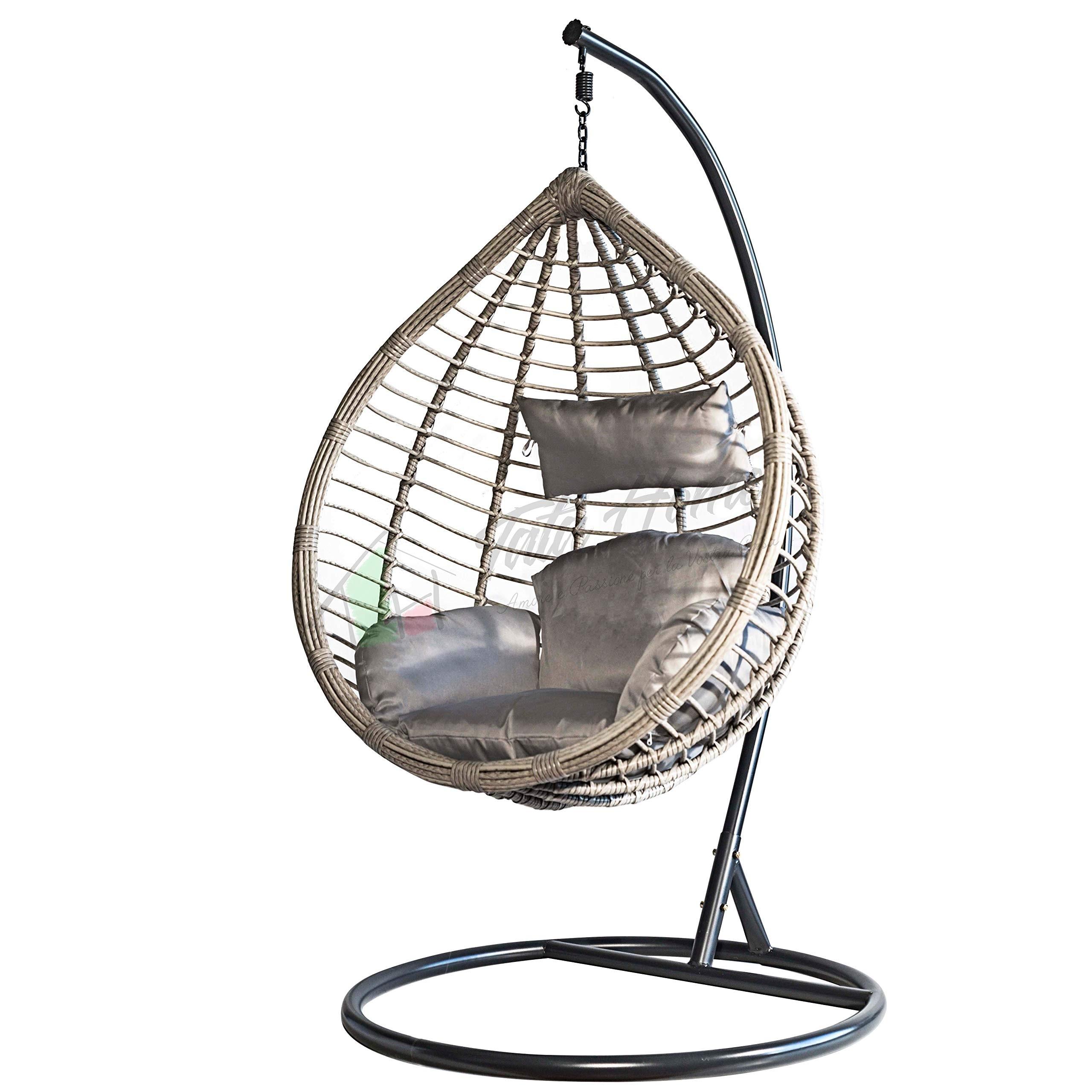 Sedie A Dondolo Per Terrazzo sedia a dondolo poltrona sospesa pensile da esterno o giardino