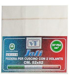 Joli Coppia Federe con 3 bottoni 100% cotone misura cm 50x80 - 21 COLORAZIONI - Made in Italy 57 fili al cm2