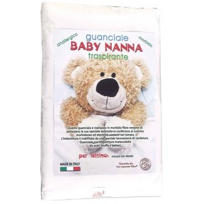 Guanciale Baby Nanna cm 30X40 alto 4 cm Traspirante Antisoffocamento Made in Italy