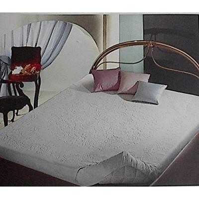 Coprimaterasso FLORA in spugna di cotonecon angoli ed elastici altezza materasso cm 25 - Made in Italy