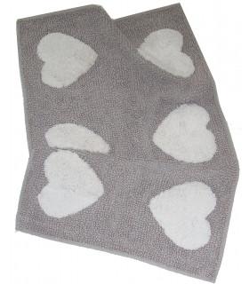 ALAIN tappeto bagno o scendiletto cm 60x110 in cotone 100% tortora