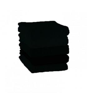 Salvietta Asciugamani per Parrucchiera 100% Cotone Misura 50x90 cm Anti Tinta Lavabile e Candeggiabile Colore Nero Made in It