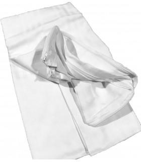 Coppia Federe Copriguanciale Fodere Salva e Copri Cuscino Bianche in 100% Morbido Cotone Fasciato Misura cm 50x80