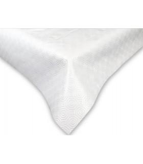 Mollettone Plastificato Salva Tavolo Proteggi Tavola Sottotovaglia 100% Made in Italy Colore Bianco e Verde Misura cm 140x240